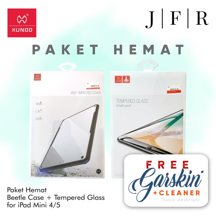 Foto Produk Xundd Beetle Case Tempered Glass iPad Mini 4 2015 iPad Mini 5 2019 dari JFR Official Store