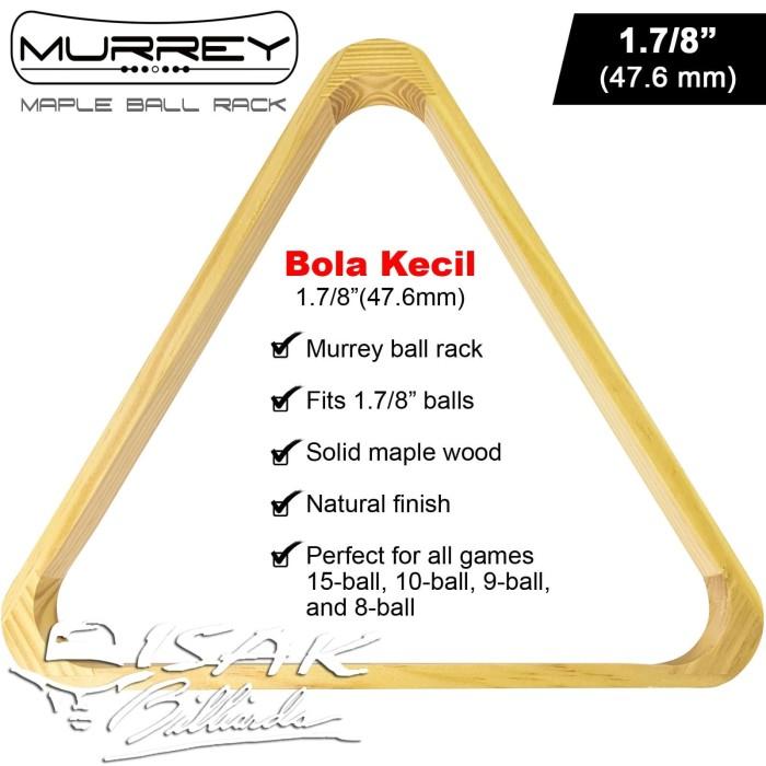 "Foto Produk Murrey Maple Ball Rack 1.7/8"" Bola Kecil Segitiga Triangle Billiard dari ISAK Billiard Sport Co."