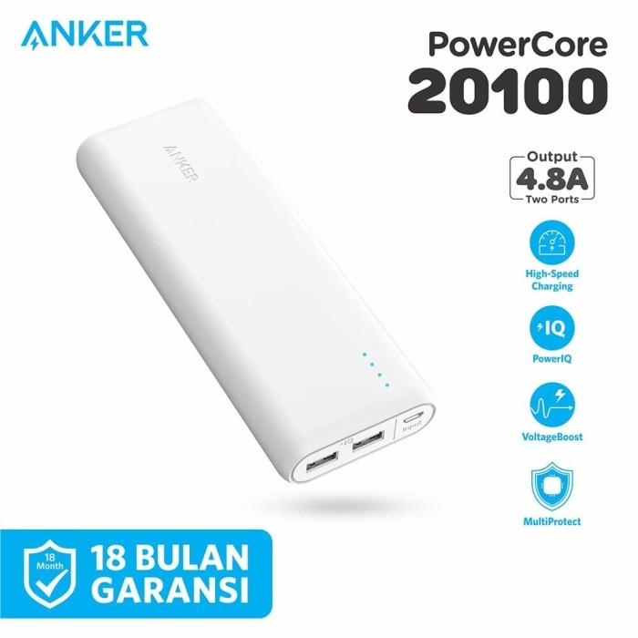 Foto Produk PowerBank Anker PowerCore 20100 mAh White - A1271 dari Anker Indonesia