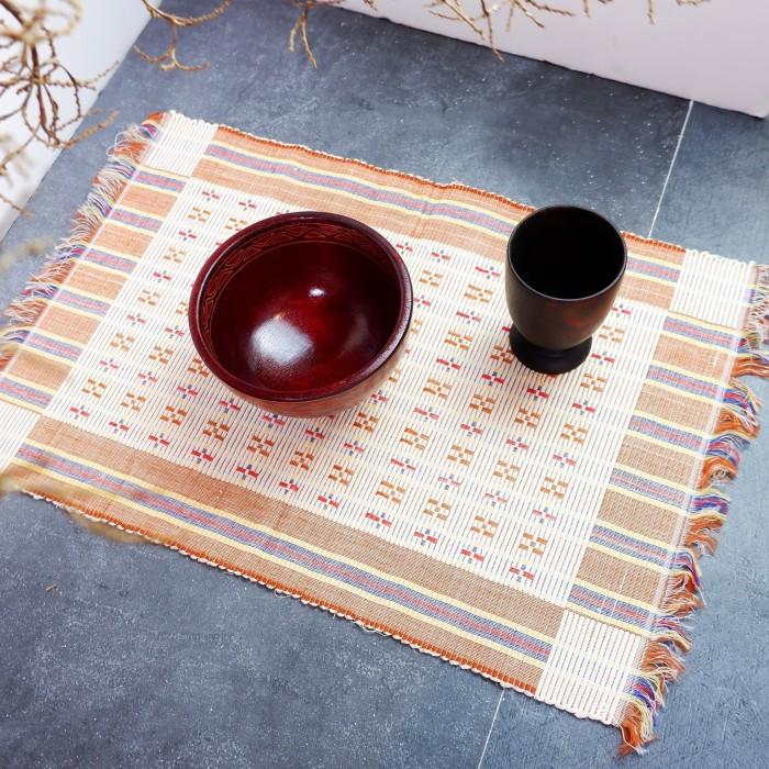 Foto Produk Liopo | placemat alas meja makan tatakan piring 50x35 cm kain besar dari Mendekor