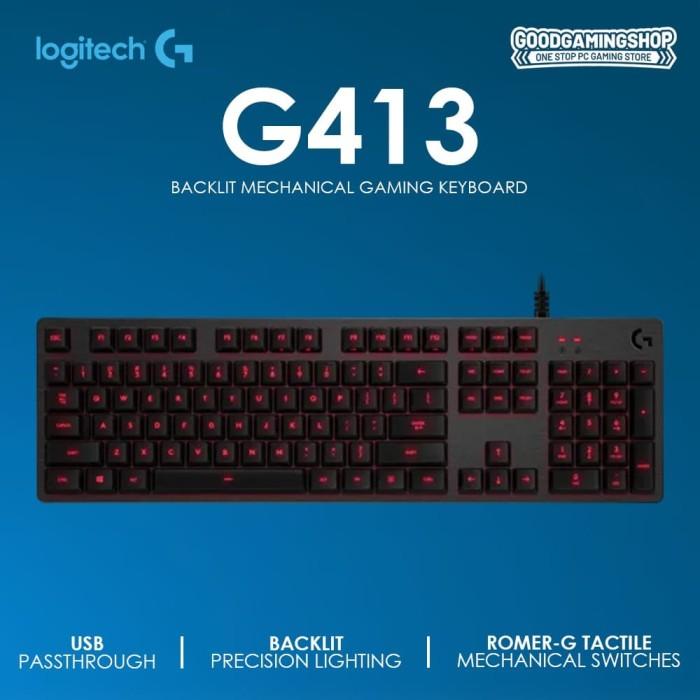 Jual Logitech G413 Carbon Mechanical Gaming Keyboard Jakarta Pusat Goodgamingm2m Tokopedia