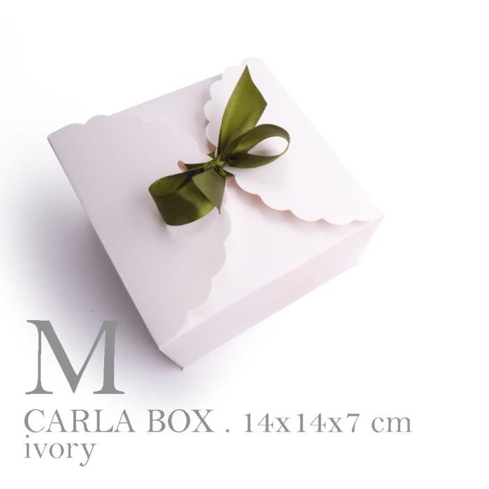 Foto Produk BOWL BOX IVORY/ Box souvenir mangkok / Box kue / Cookie Box(14x14x8cm) dari fave paper