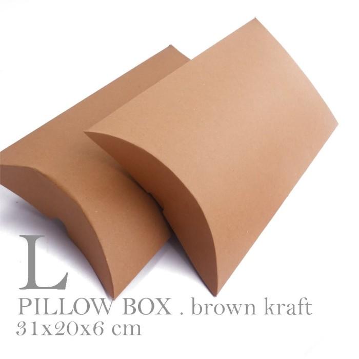 Foto Produk [PILLOW BOX LARGE: 20x30x6 cm] dus / box / kemasan / paperbox dari fave paper
