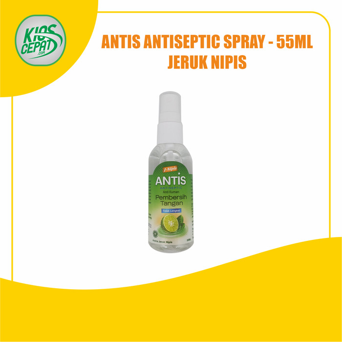 Foto Produk ANTIS Hand Sanitizer Antiseptic SPRAY 55ml - Jeruk Nipis dari KiosCepat