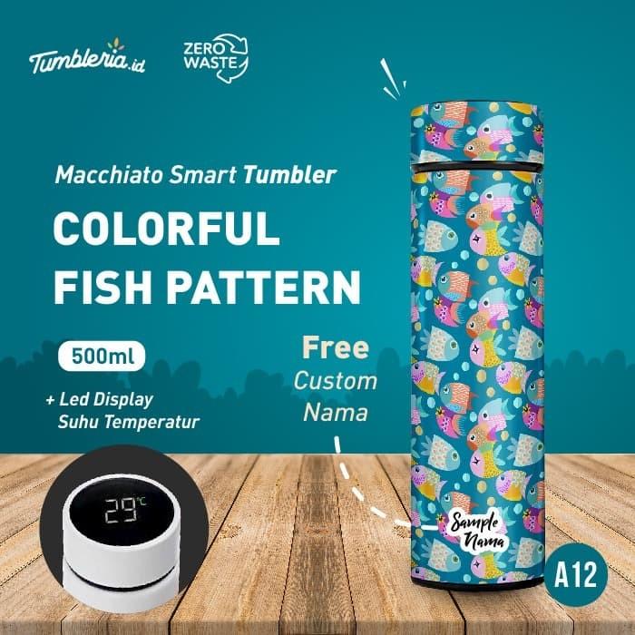 Foto Produk Macchiato Smart Tumbler I Colorful Fish Pattern dari Bogorprint Express