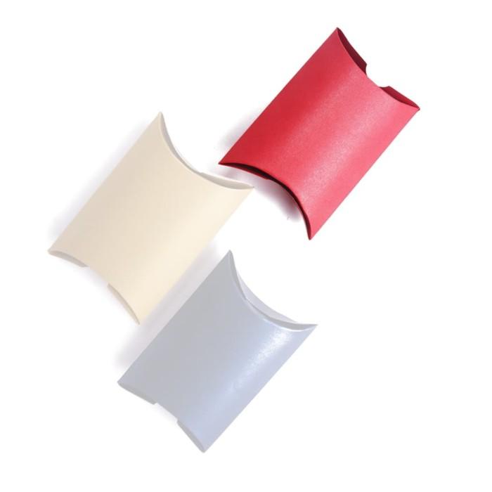 Foto Produk [PILLOW BOX EXTRA SMALL: 8x11x3 cm] JASMINE RED dus / box / paperbox dari fave paper
