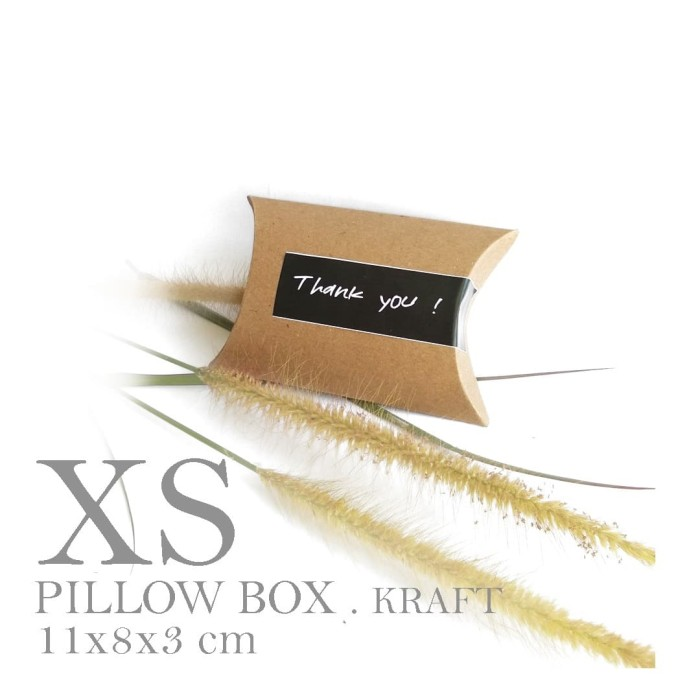 Foto Produk [PILLOW BOX EXTRA SMALL: 8x11x3 cm] dus / box / kemasan / paperbox dari fave paper
