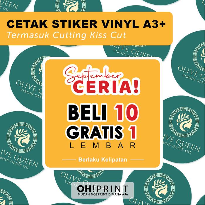 Foto Produk Cetak Stiker Label Vinyl / Transparan A3+ CUT / Cetak Label Kemasan dari OH! Print