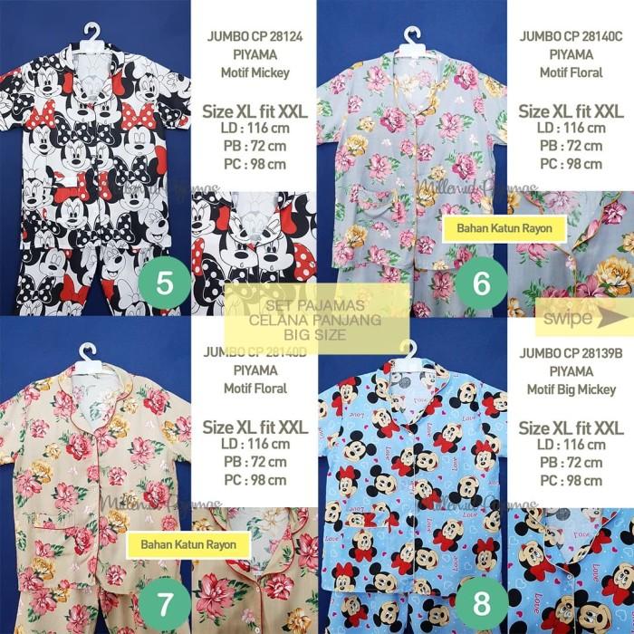 Foto Produk PIYAMA Size XL-XXL CP Katun Japan Ori Motif Set Baju Tidur Wanita JBCP - Nomor 1 dari Millen Collection