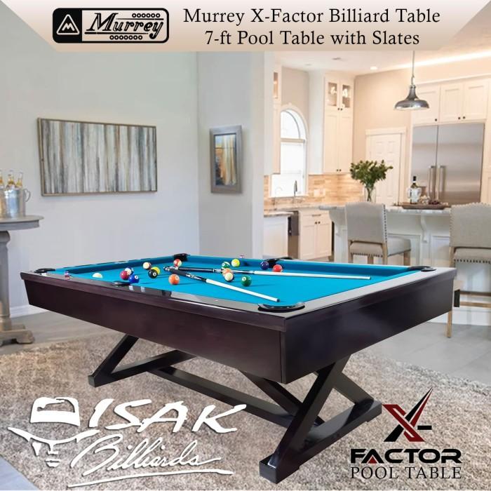 Foto Produk Murrey X-Factor 7 ft Pool Table - Batu Slate Meja Billiard 7 feet Asli dari ISAK Billiard Sport Co.