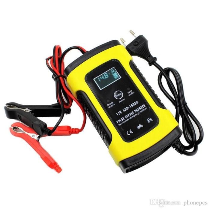 Foto Produk Alat Cas Aki/Charger Aki Intelligent Battery Charger Aki Mobil 12V6A dari Rayasa Tech