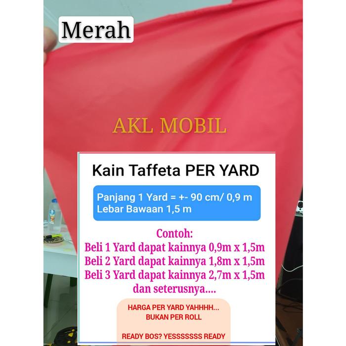 Foto Produk Termurah Kain Parasut Taffeta Import Waterproof Rajutan 210T - Merah dari AKL Mobil