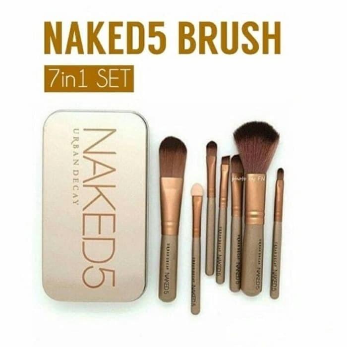 Foto Produk kuas make up naked 5 urban isi 7 set make up brush dari rejeki shop