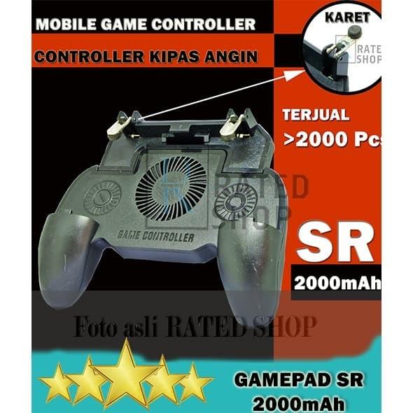 Foto Produk PUBG MOBILE CONTROLLER GAMEPAD Cooling Fan L1R1 Trigger + 2000mAh - SR dari Rated Shop