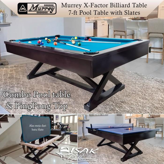 Foto Produk Murrey X-Factor 7ft Combo Pool PingPong Table Batu Slate Meja Billiard dari ISAK Billiard Sport Co.