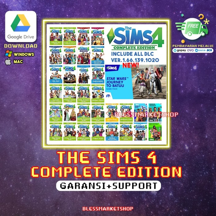 Foto Produk The sims 4 PC Complete Edition Full DLCs + ALL Expansion - Via Email dari Bless Market Shop