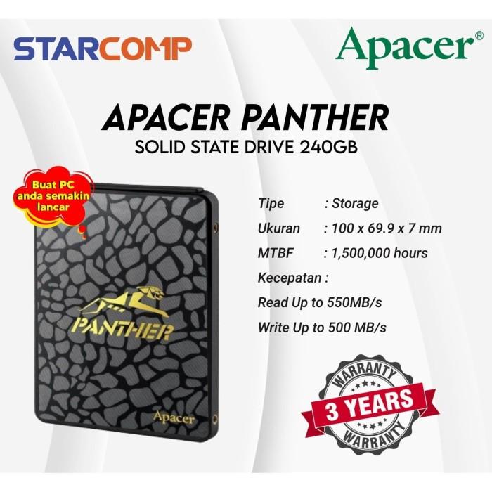 Foto Produk SSD Apacer Panther AS340 240GB dari StarComp