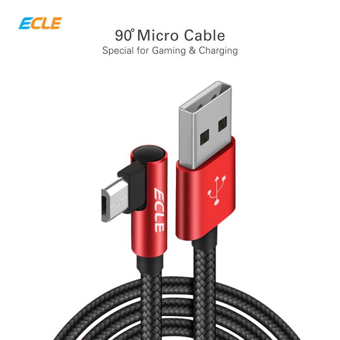 Foto Produk ECLE Kabel Charger Gaming Micro USB Android Kuat Fast Charging 2.3 A - Merah dari ECLE Official Store