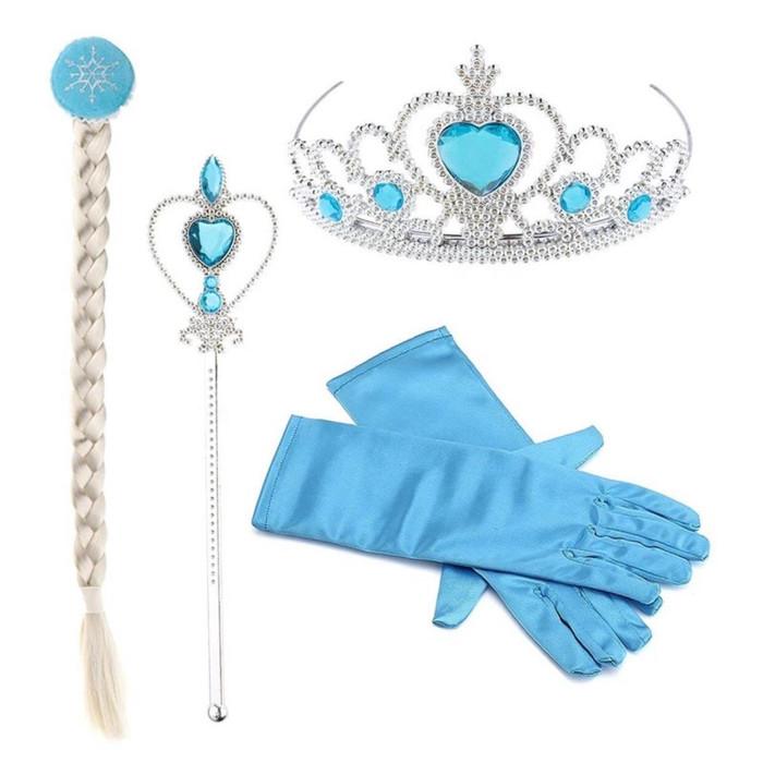 Foto Produk Aksesoris Frozen Elsa Rambut (Rambut+Mahkota+Tongkat+Sarungtangan) - elsa dari Orion Boutique