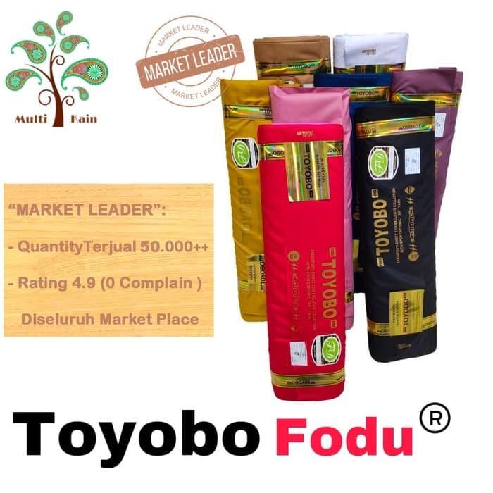 Foto Produk Bahan kain toyobo cotton katun fodu royal mix premium gamis, seragam - 1 putih bersih dari multi kain
