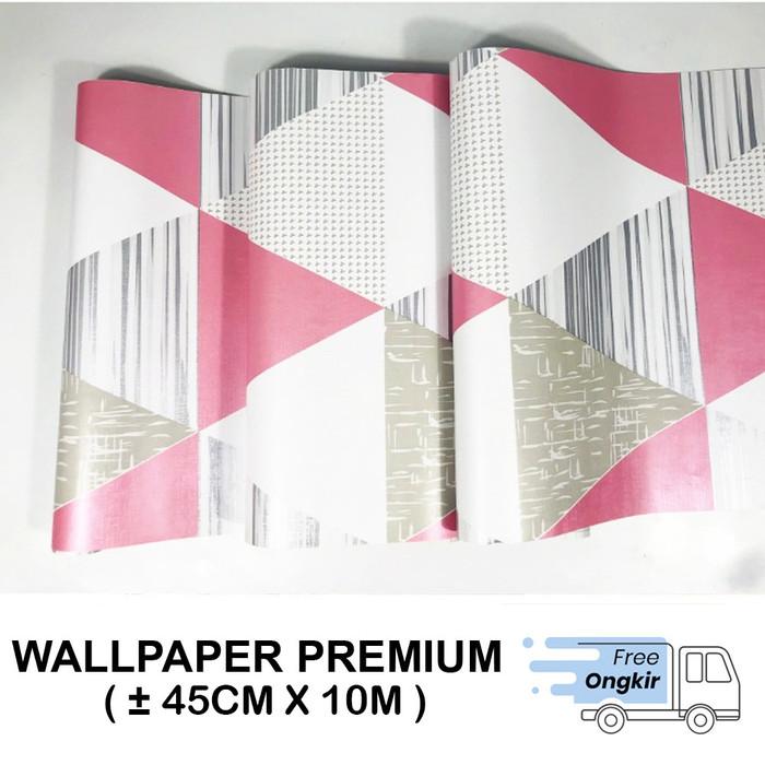 Foto Produk Wallpaper Dinding Stiker Dinding Segitiga Hitam Uk 45cm x 10m - 001 dari Supplier Dekorasi