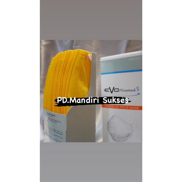 Jual EVO Plusmed Surgical Masker 3ply (isi 25 pcs/box ...