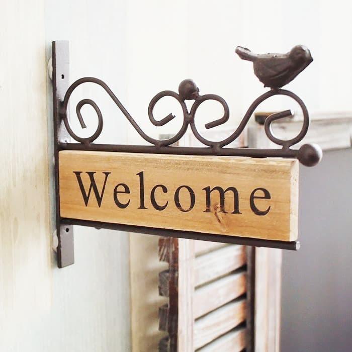 Foto Produk Takimai   sign gantungan pintu welcome selamat datang vintage hiasan dari Mendekor
