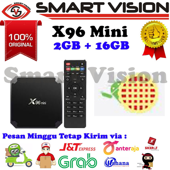 Foto Produk New Android 7.1 Android Tv Box X96 mini RAM 2G ROM 16G Full Load Kodi - TVBOX SAJA dari Smart Vision