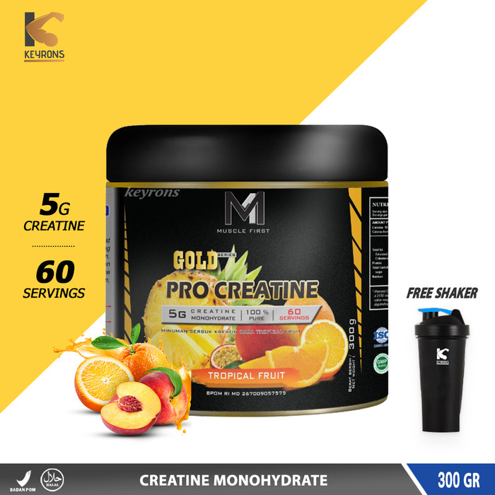 Foto Produk M1 MUSCLE FIRST PRO GOLD CREATINE MONOHYDRATE 300 GRAM dymatize on - Tropical Fruit dari Keyrons