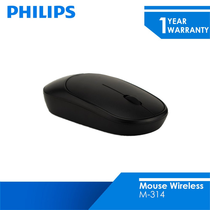 Foto Produk Philips Mouse Wireless 2.4 GHZ M-314 - Hitam dari Philips Computer