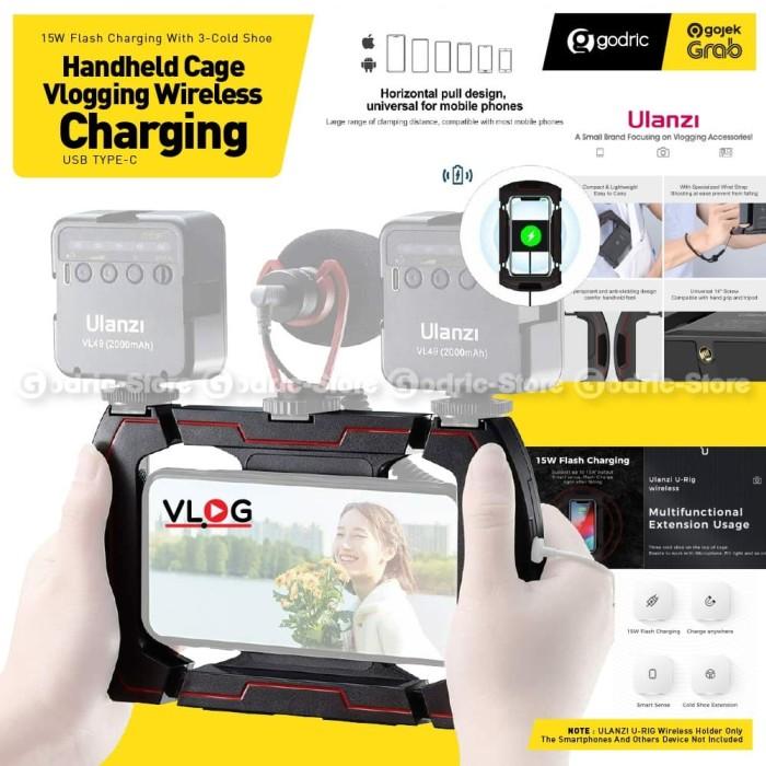 Foto Produk ULANZI U RIG WIRELESS Smartphone Video 3 Bracket HP Stabilizer Vlog dari Godric Store