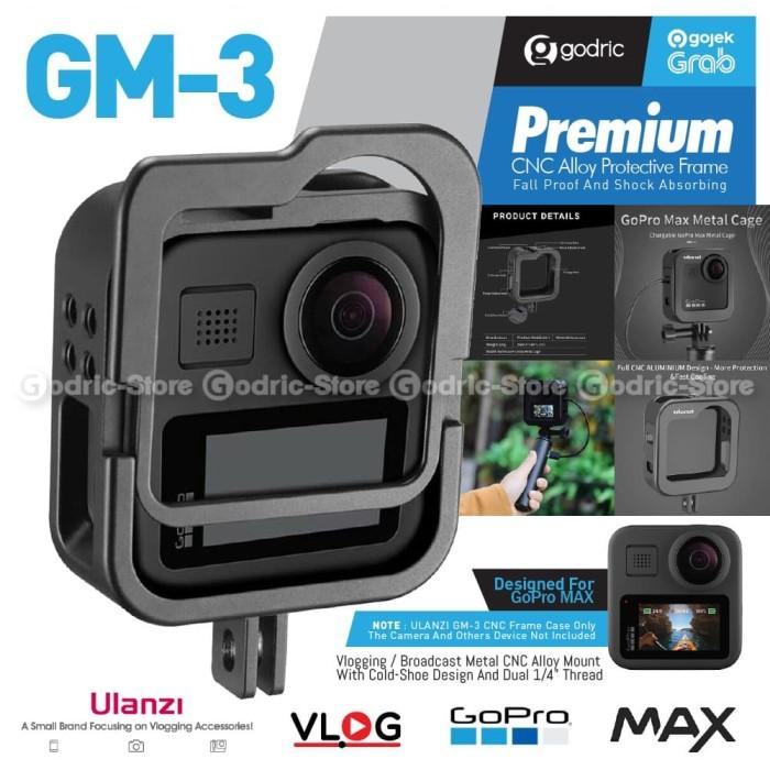 Foto Produk ULANZI GM-3 Metal Vlog Case for GoPro MAX Cover Cage w/ Slot for LED dari Godric Store