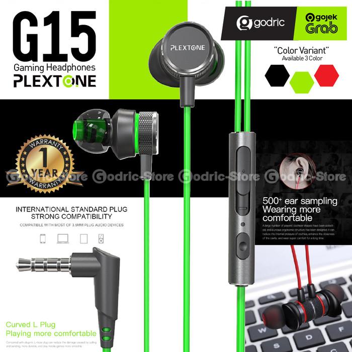 Foto Produk PLEXTONE G15 Earphone Gaming Stereo Headset Microphone Wired Magnetic - GREEN dari Godric Store
