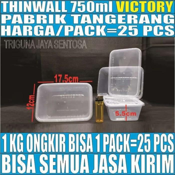 Foto Produk Thinwall 750 ml food container box tempat kotak makan plastik murah dari kebutuhan pokok sembako