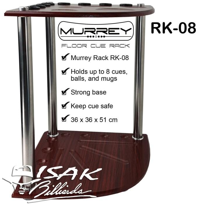 Foto Produk Murrey Floor Cue Rack RK-08 Rak Stick Kayu Sudut Corner Billiard Cues dari ISAK Billiard Sport Co.
