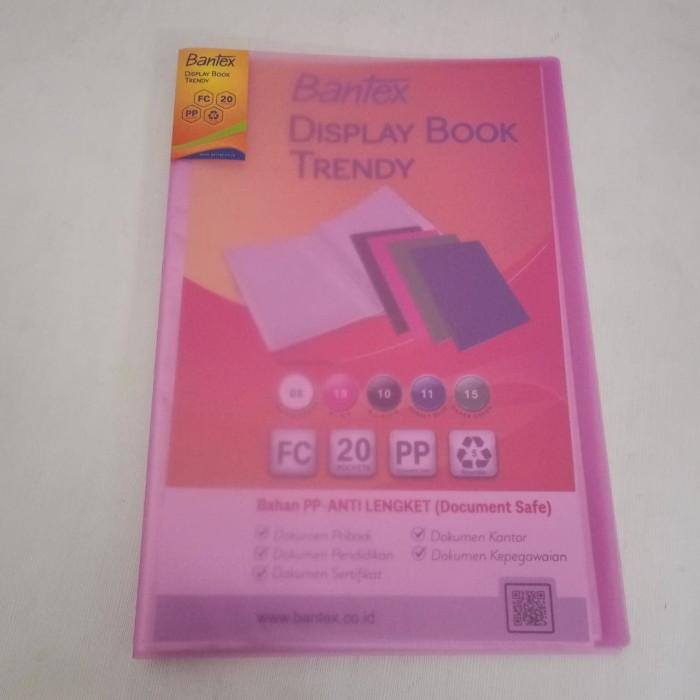 Foto Produk Clear Holder Bantex 3393-19 Ukuran Folio Isi 20 Lembar - Pink dari officemart