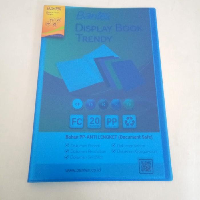 Foto Produk Clear Holder Bantex 3393-11 Ukuran Folio Isi 20 Lembar - Cobalt Blue dari officemart