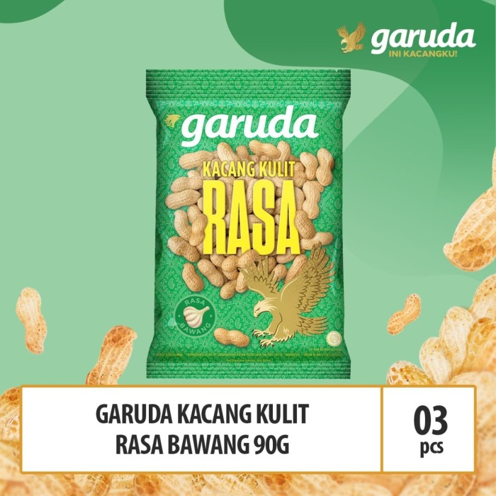 Foto Produk Garuda Kacang Kulit Rasa Bawang 90g x 3 Pcs (BPD) dari GarudaFood