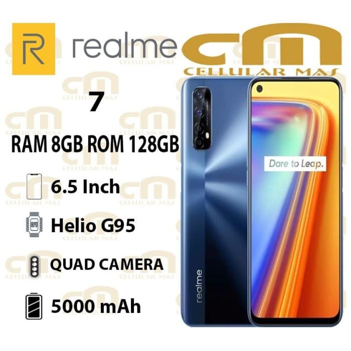 Foto Produk Realme 7 8/128 RAM 8GB ROM 128GB GARANSI RESMI REALME - Mist White dari Cellular Mas