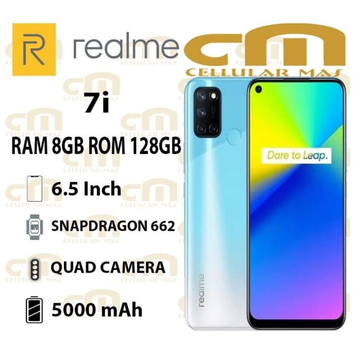 Foto Produk Realme 7i 8/128 RAM 8GB ROM 128GB GARANSI RESMI REALME - Polar Blue dari Cellular Mas