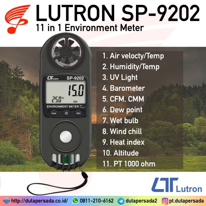 Foto Produk Lutron SP-9202 Environment Meter alternatif LM-8000A LM-8010 ME-9000 dari DUTA PERSADA Instruments