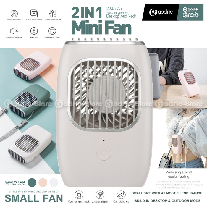 Foto Produk Kipas Angin Leher 3in1 Stylish USB Portable Mini Fan (Gantung / Stand) - WHITE dari Godric Store