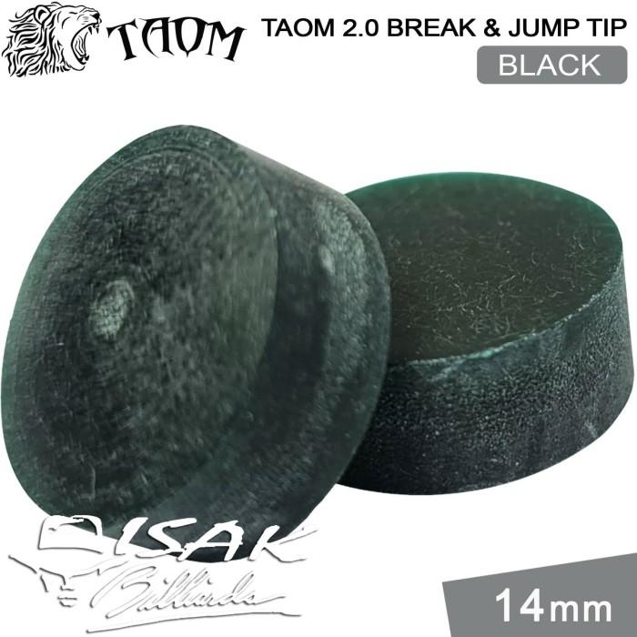 Foto Produk Taom 2.0 Break Jump Tip Black - 14mm Extra Hard Kepala Stick Billiard dari ISAK Billiard Sport Co.