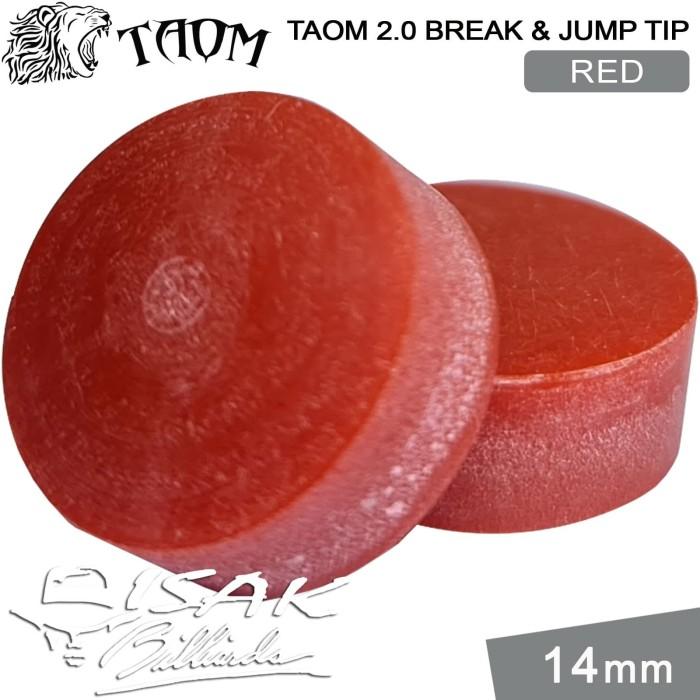 Foto Produk Taom 2.0 Break Jump Tip Red - 14mm Extra Hard Kepala Stick Billiard dari ISAK Billiard Sport Co.