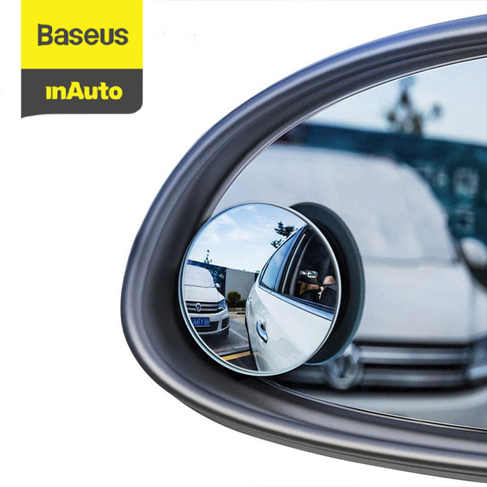 Foto Produk BASEUS KACA SPION KECIL MINI CEMBUNG WIDE ANGLE BLIND SPOT CAR MIRRORS - Hitam dari Baseus Auto Life