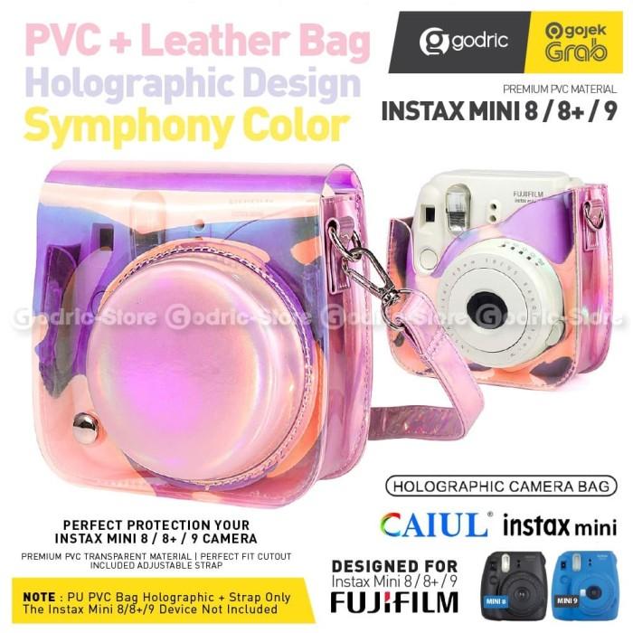 Foto Produk Leather Bag Fujifilm Mini Instax 9 & 8 Tas Holographic Transparan Case dari Godric Store