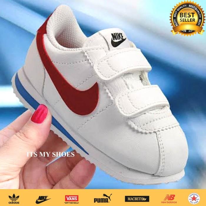 Foto Produk Sepatu Nike Cortez Anak-Putih Merah-Model Perekat-Import - 24 dari IT'S MY SHOES JAKARTA