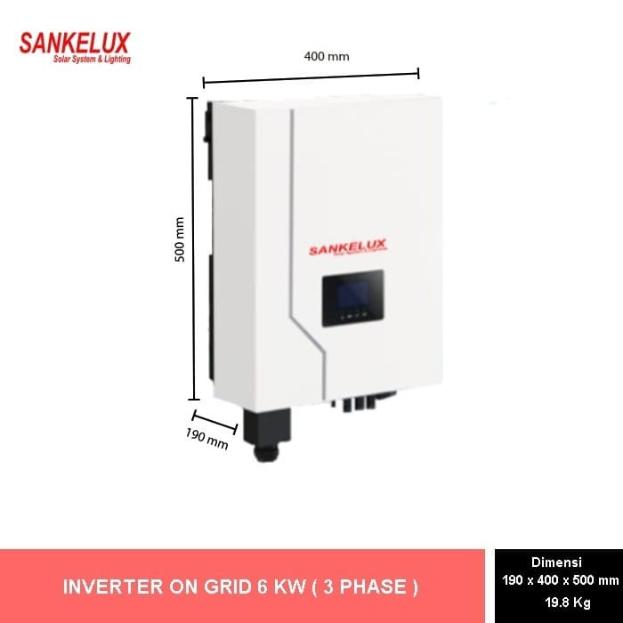 Foto Produk On Grid Inverter Enso - 6 KW Three Phase dari SANKELUX ONLINE STORE