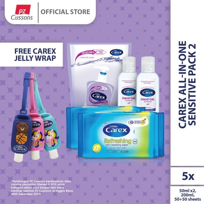 Foto Produk Carex All-In-One Sensitive Pack 2 dari Cussons Official Store
