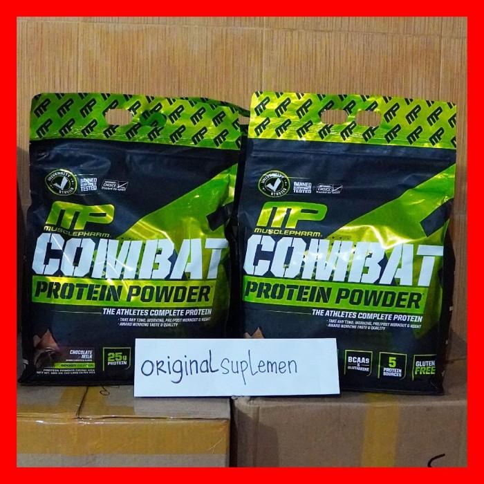 Foto Produk Mp Combat 10 Lbs Musclepharm Protein Powder Whey 10 Lb 10Lb 10Lbs dari Original Suplemen